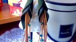 Сережки зі шкіри′Кали′