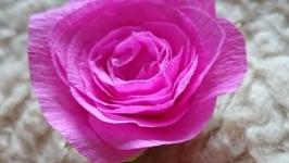 Брошь - Малиновая роза