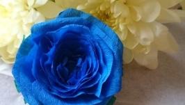 Брошь - Синяя роза