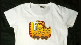 Эксклюзивная футболка. Кот с крыльями. Котиный пегас. Авторская графика