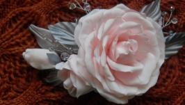 Заколка для волос с розой