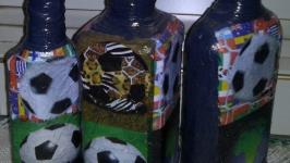 Декорированные бутылки для кухни,для декора