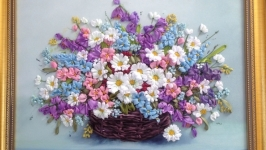 Картин ′Польові квіти в кошику′