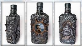 Декоративная бутылка в подарок мужчине моряку «Шкипер» Сувениры для моряков