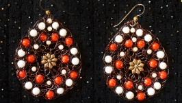 Плетеные серьги ′Этника′