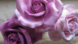 Шпилька с розой из японской полимерной глины