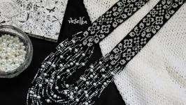 Гердан ′Жасмин′ черно-белый