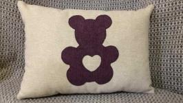 Декоративная подушка Мишка