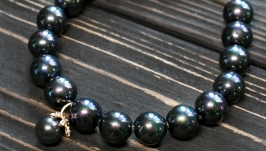 Браслет з перлів Майорки і позолоти з кристалами циркону