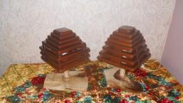 Лампы деревянные  ′він і вона′