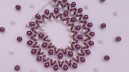 Колье, ожерелье, бусы ручной работы