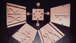 Деревянная форма для творожной пасхи (деревянная пасочница) на 1 кг