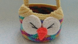 Декоративная корзинка для мелочей Совушка