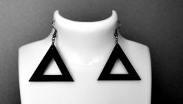 Серьги черные ′ Пирамида ′