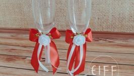Весільні бокали для шампанського арт. 9003