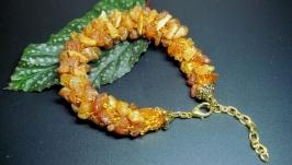 Янтарный браслет из необработанного янтаря