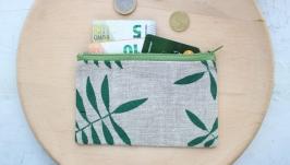 Льняной кошелек ′Пальмовый лист′