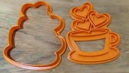 ′Кава з сердечками′ Форма для печива та пряників