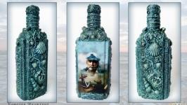 Подарок для моряка  Графин в морском стиле «Подарок капитану»
