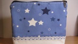 Косметичка ′Звезды и кружево′