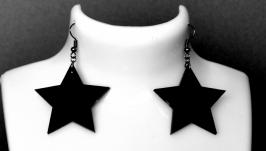 Серьги черные  ′Black Star′