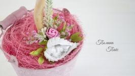 Декоративное деревцо для новорожденной девочки, деревцо на крестины