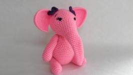вязаный слоник (девочка) крючком