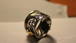 Филигранное кольцо ′Песнь весны′