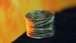 Кольцо с текстурой