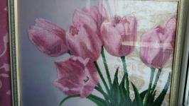 Картина з бісера ′ Тюльпани′