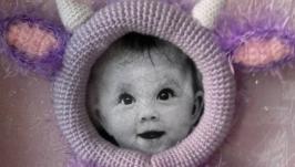 Фоторамка для малыша крючком