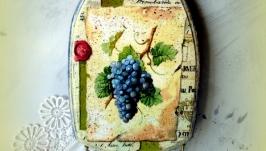 Вешалка для кухонных полотенец Виноград.