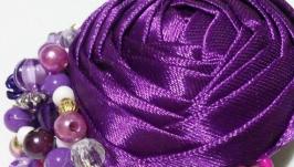Заколки для волос из атласных лент