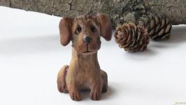 Пес керамічна фігурка у вигляді собаки