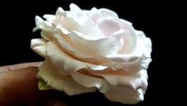 Брошка ′Троянда у вінтажному стилі′ (японська полімерна глина deco clay)
