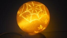 Светильник-ночник ′ Маленькое лето′.Фарфор