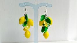 Серьги с лимонами