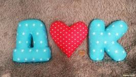 Подушки - буквы