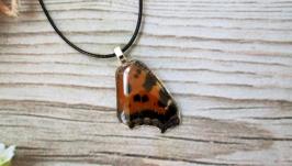 Кулон из крыла бабочки.