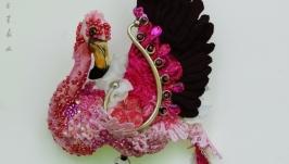 Брошь Фламинго ′Полуденные грезы′