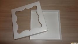Коробка 150*150*30 мм белая с окном 1 шт