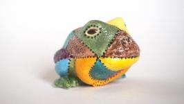 Лягушка ′Мозаика′, фарфор