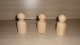Фигурка. Кукла деревянная  - 8 см