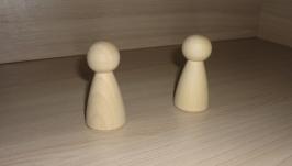 Фигурка. Кукла деревянная - 7 см