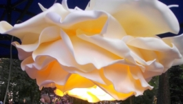 Люстра Роза светильник цветок из материала изолон ручная работа