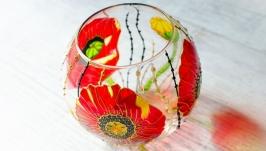 Ваза-конфетница ′Маки′