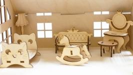 Домик для куклы с мебелью Для принцессы