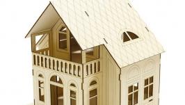Домик для куклы с мебелью С балконом