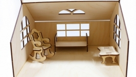 Домик для куклы с мебелью Уютный