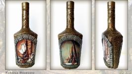 Сувенирная бутылка Охотничьи трофеи Подарок мужчине охотнику